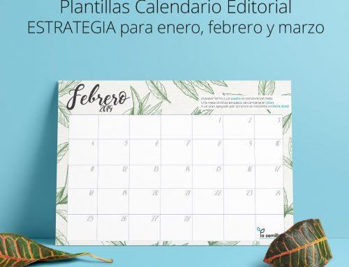 Plantillas enero, febrero y marzo 2019