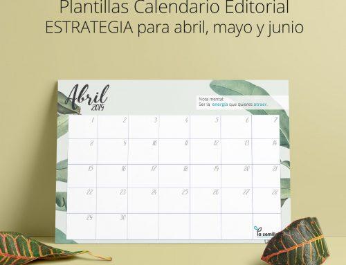 Plantillas abril, mayo y junio 2019